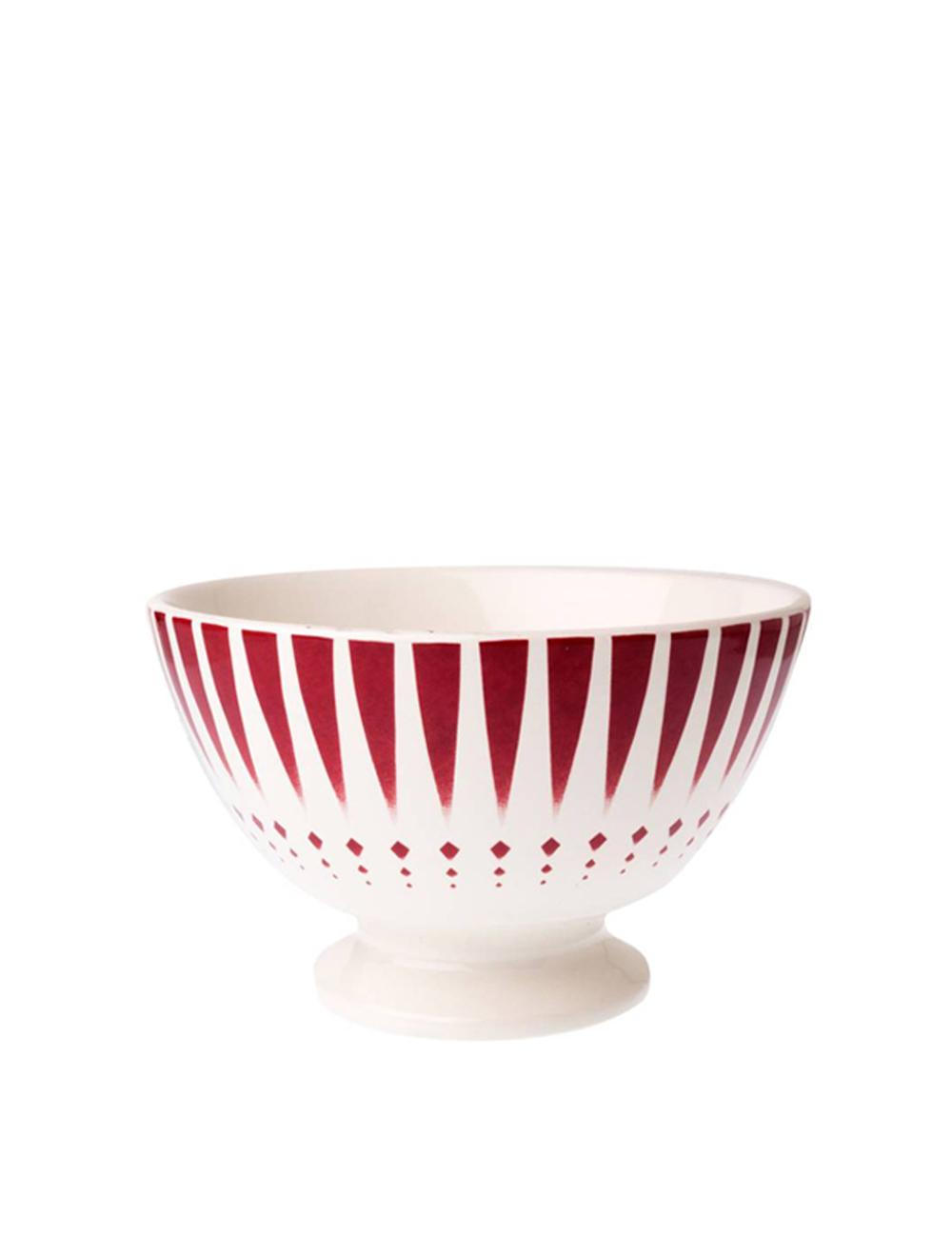skál café au lait, French vintage, Dépôt d'Argonne, arlequin red | mixmix reykjavik